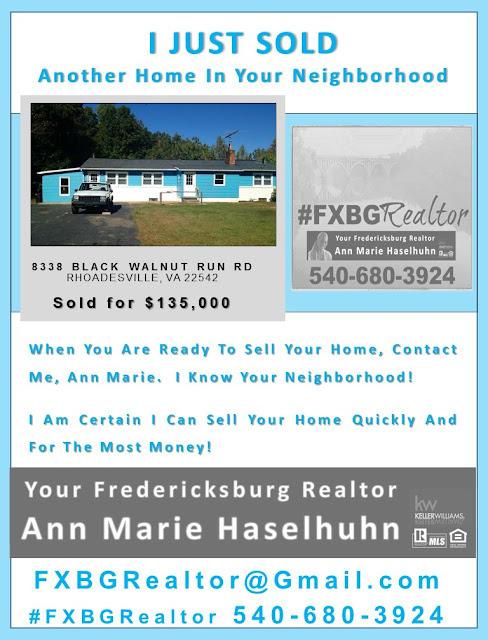 Ann Marie Haselhuhn 540-680-3924 #FXBGRealtor
