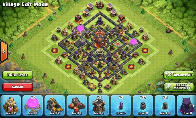Susunan Base Trophy TH 8 Terbaru untuk pertahanan Terbaik Clash Of Clans 25