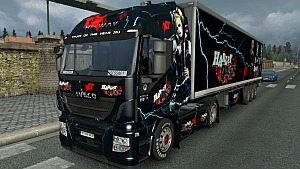 Iveco Hi-Way Harley Quinn skin and trailer