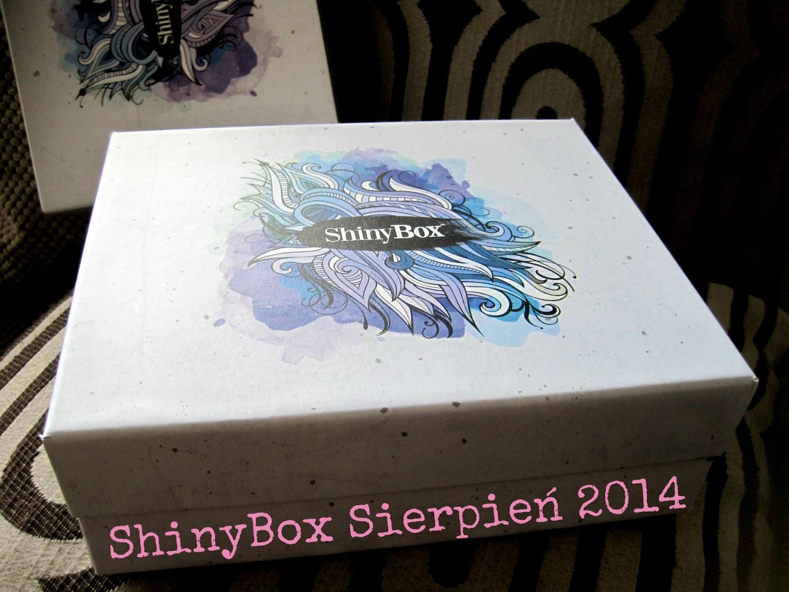 ShinyBox Sierpień 2014 - zawartośc i pierwsze wrażenia