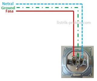 instalasi stop kontak dengan ground