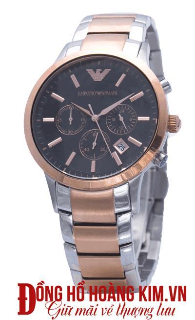 đồng hồ armani nam dây sắt giá rẻ