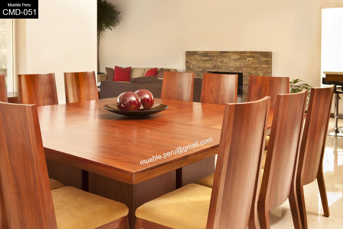Mueble peru moderno comedor de madera ideal para tu hogar for Muebles para comedor