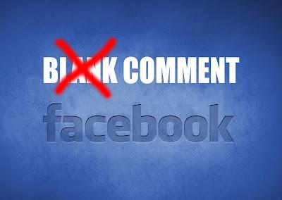 cara berkomentar kosong facebook