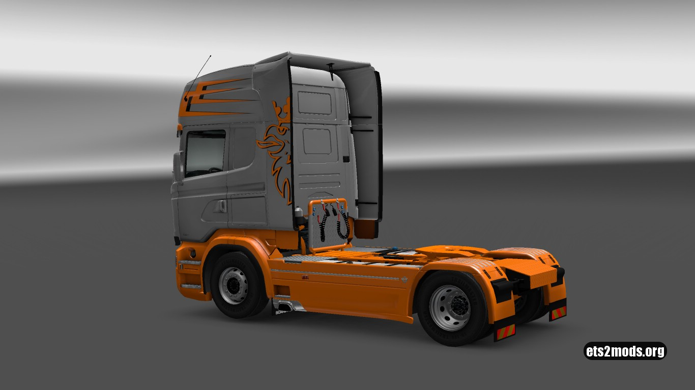 Orange Sunset Skin for Scania RJL