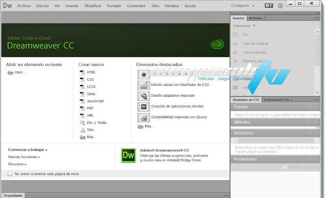 Adobe Dreamweaver CC Versión 16.0.0 Español