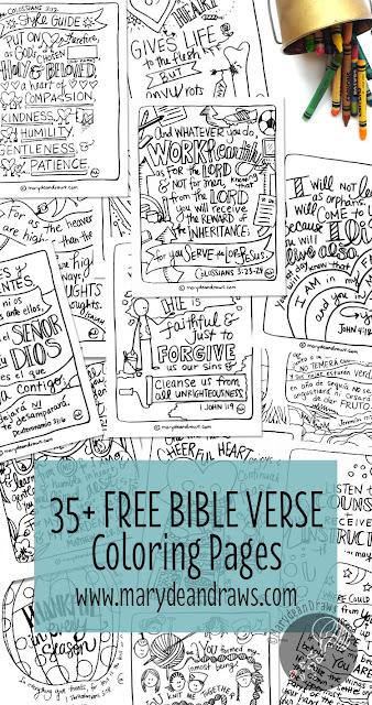 free Bible verse art coloring pages
