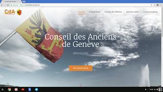 La page d'accueil du nouveau site internet