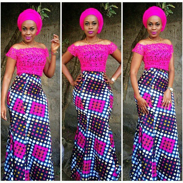 Ankara And Lace Combination Gown Styles For Smart Ladies Zaineeys