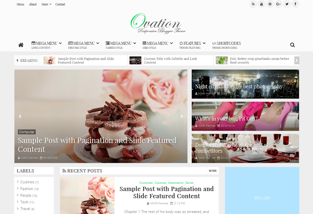 Ovation v1.0 – Premium News/Magazine Responsive Blogspot Template