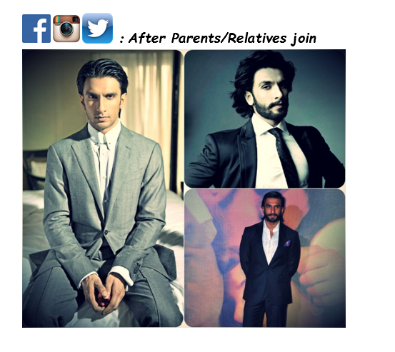 Ranveer Singh, Bollywood, Facets, Social Media, LinkedIn, Facebook, Twitter, Instagram