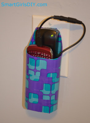Long sized mobile charger holder