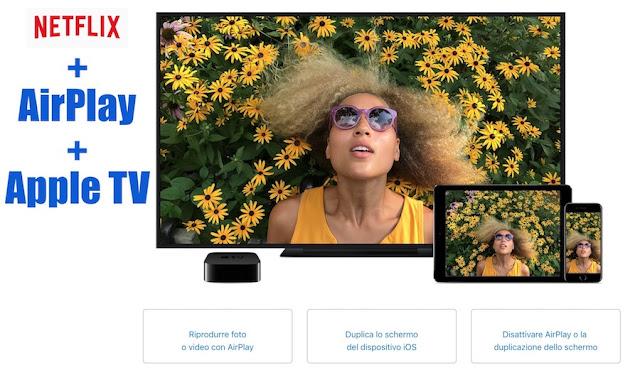 Come usare AirPlay per connettere app Netflix da iPhone alla TV