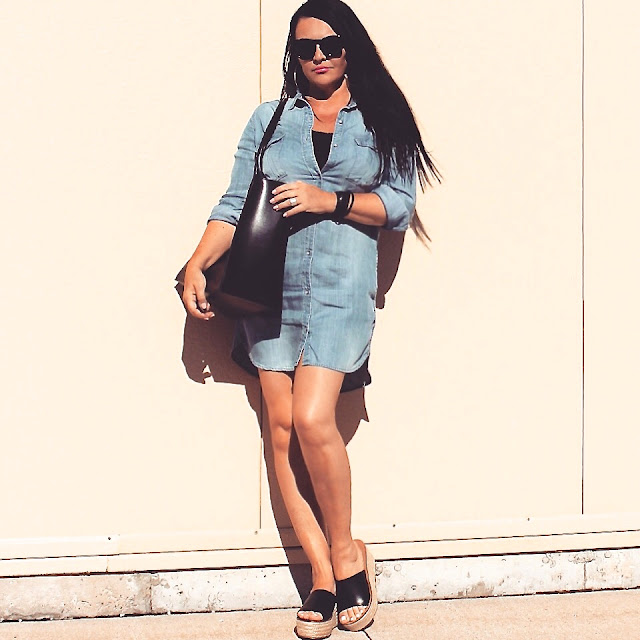 zara, denim dress, zara shoes, zara bag