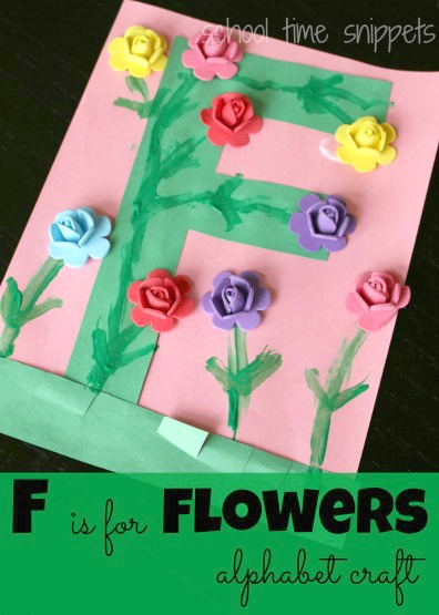 Letter F is for Flowers Craft