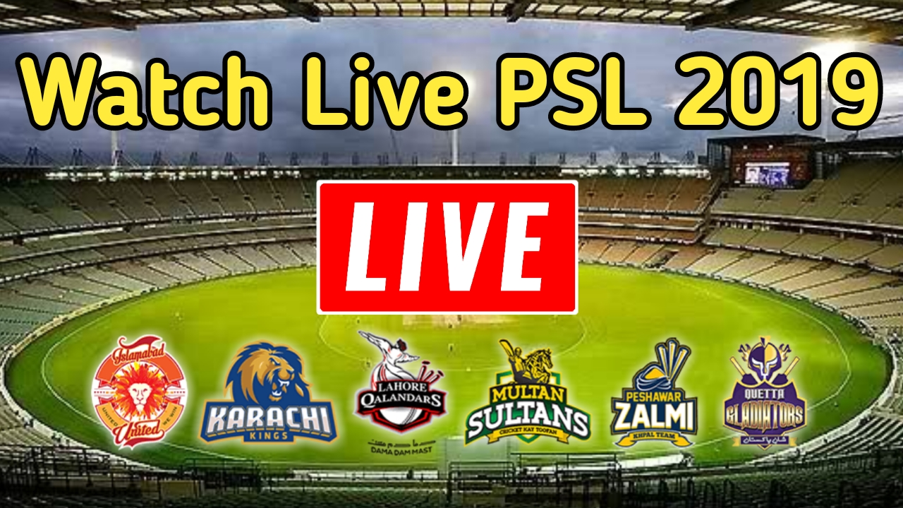 Watch Live Stream PSL 2019