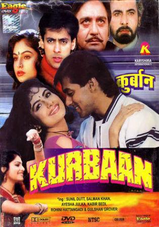 Kurbaan 1991 DTHRip 400MB Full Hindi Movie Download 480p Watch Online Free bolly4u