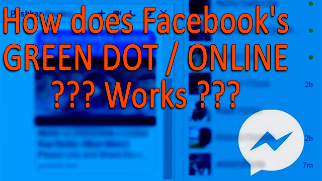 How does Facebook's GREEN DOT / ONLINE Works