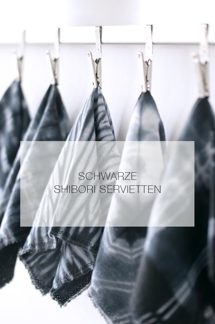 Ynas Design Blog: STOFF-SERVIETTEN | Shibori mal in schwarz....