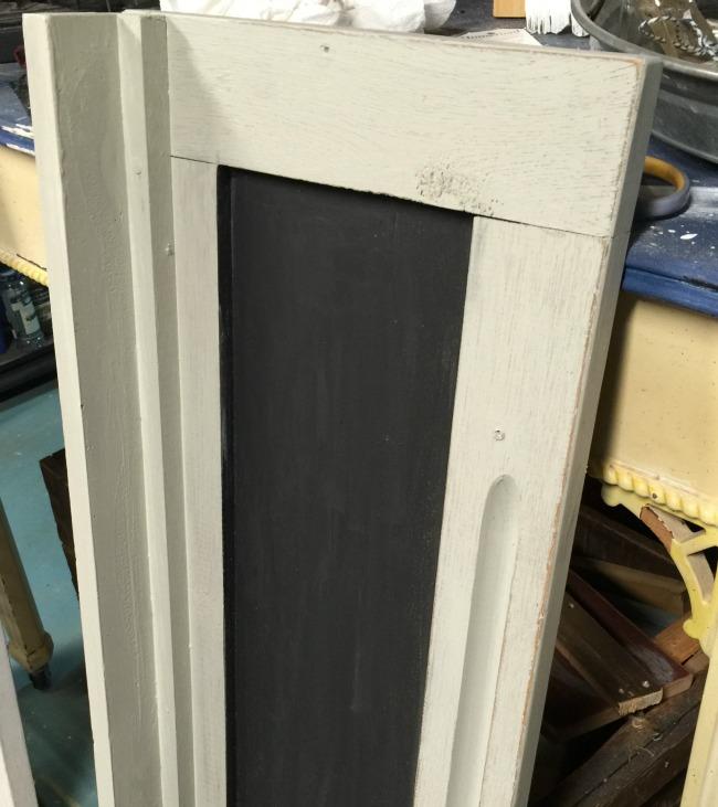 Repurposed Vintage Cabinet Door Makeover www.homeroad.net