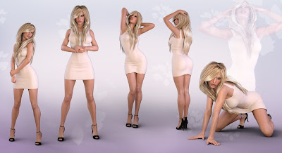 Z Perfectly Poised - Poses and Partials for Genesis 3 and 8 Female