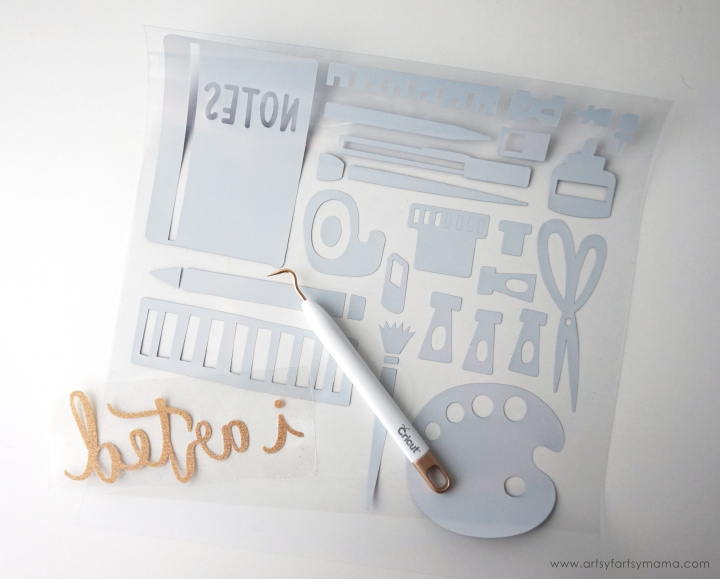 """I Arted"" Canvas Sign is one of 50 FREE projects made with the Cricut Maker machine! #CricutMade"