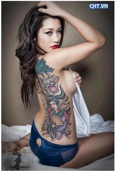 tato 3 dimensi di tubuh wanita Paling keren sedunia