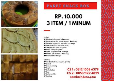harga aneka snack di Tangerang Banten