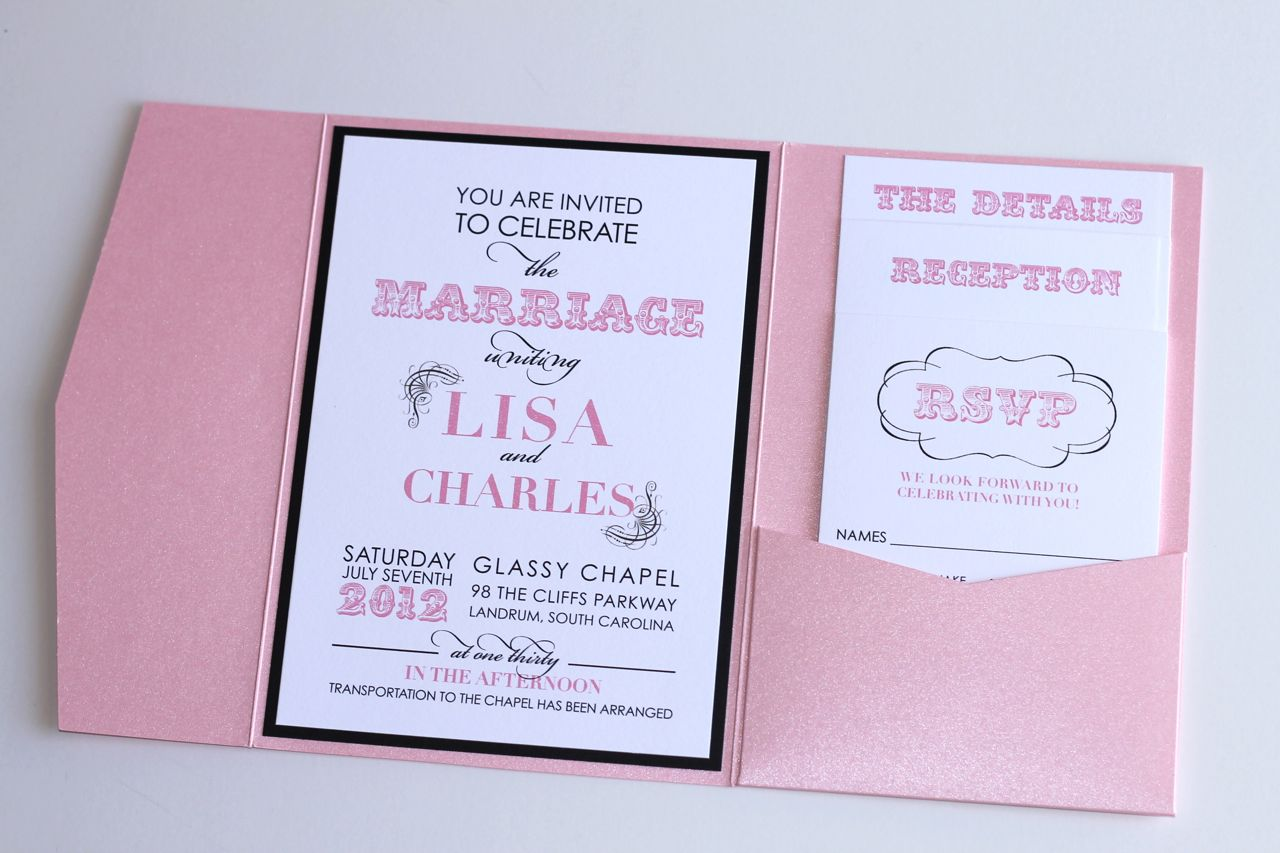 Red Black And White Wedding Invitations: Embellished Paperie: Modern Wedding Invitation