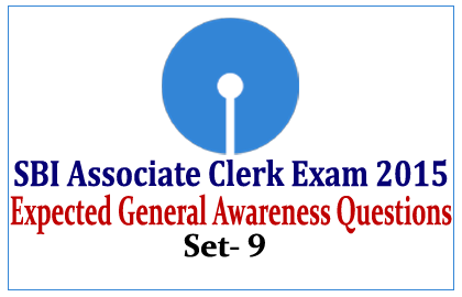 General Awareness Questions for SBI Associate Clerk Exam