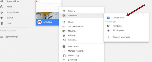 Cara menyalin  tulisan dari file gambar jpg atau PNG