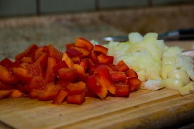 cortar verduras en dados