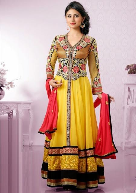 mouni-roy-full-yellow-dress-beautiful