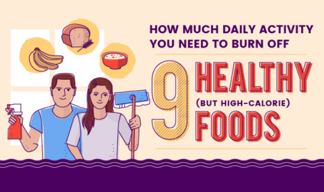 How Much Daily Activity You Need To Burn Off: 9 Healthy (But High-Calorie) Foods