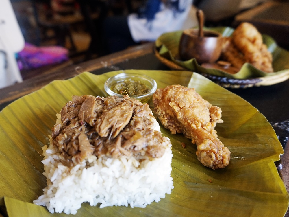 Pater and Palapa combo with fried chicken
