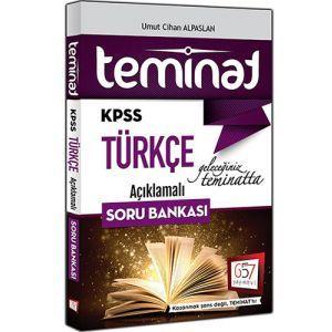 657 Yayınları KPSS Teminat Türkçe Açıklamalı Soru Bankası 2017