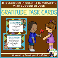 https://www.teacherspayteachers.com/Product/Gratitude-Task-Cards-2225615