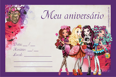 convite ever after high gratis