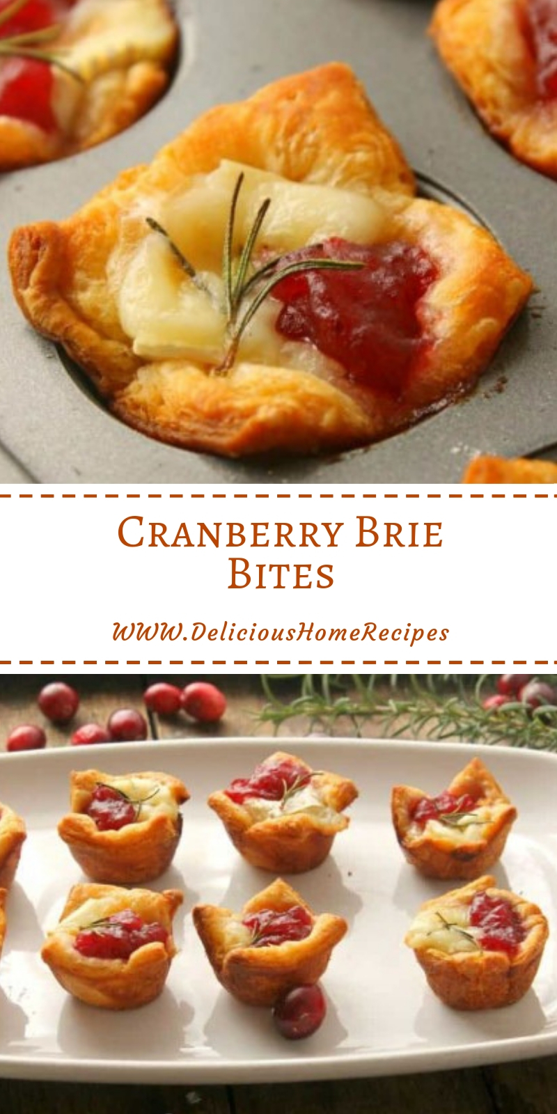 Cranberry Brie Bites #christmas #snack