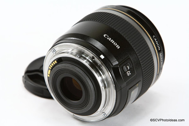 Canon EF-S 60 mm f/2.8 Macro USM rear element and contacts