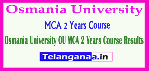 OU MCA 2 Years Course Results  2018