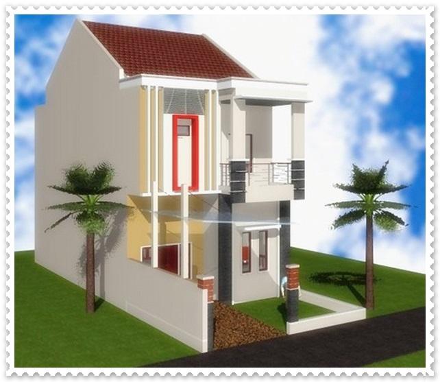 contoh desain rumah minimalis 2 lantai type 45