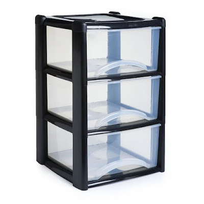 Plastic drawer tower