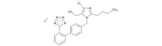 Losartan yaitu antagonis reseptor angiostensin II yang reversibel dan tidak kompetitif de Losartan Potassium