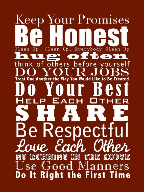 Wisdom of Life : House Rules for the family