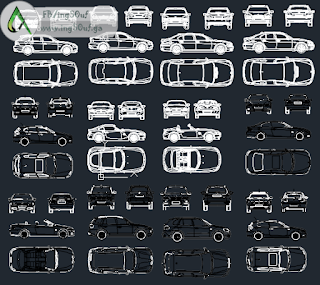 بلوكات سيارات اوتوكاد