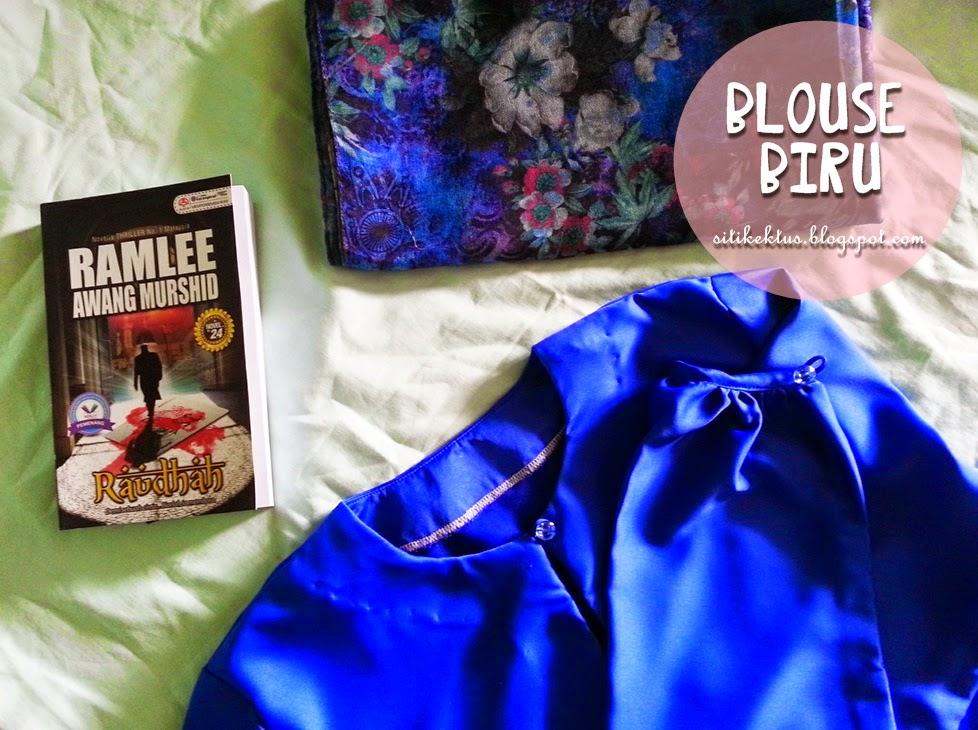 Jilbab biru projek di ladang kelapa sawit - 3 2