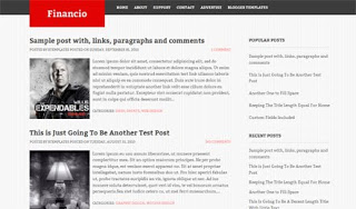 Financio Blogger Template