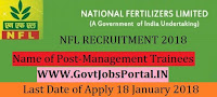 National Fertilizers Limited Recruitment 2018 – 41 Management Trainees