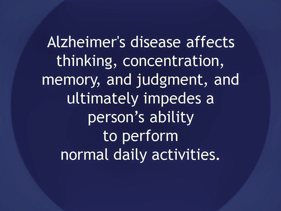 What is Alzheimer's disease | Alzheimer's Reading Room